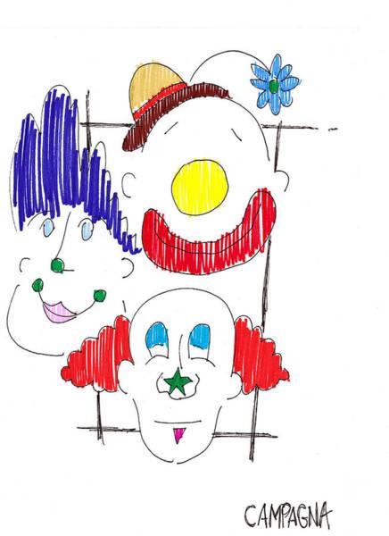 Sharpie Wall Art - Drawing - Triple Threat by Teddy Campagna