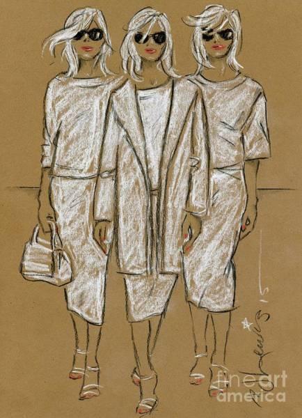 Wall Art - Painting - Triplets by PJ Lewis