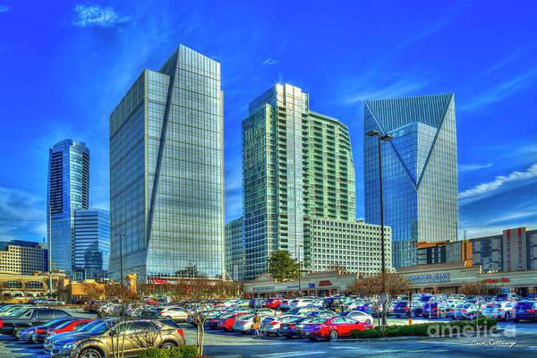 Wall Art - Photograph - Triplets Terminus Buildings Buckhead Atlanta Art by Reid Callaway