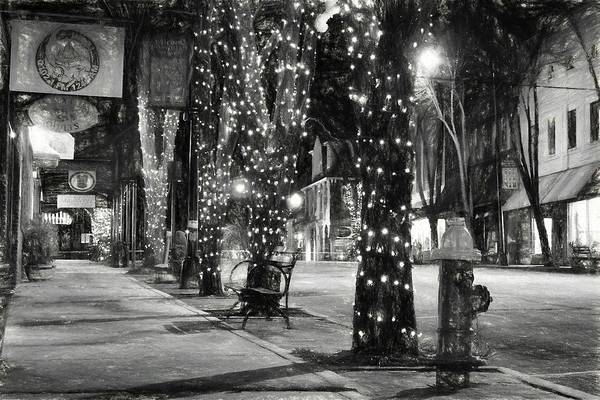 Photograph - Tripping The Light In Downtown Brevard North Carolina In Charcoal  by Carol Montoya