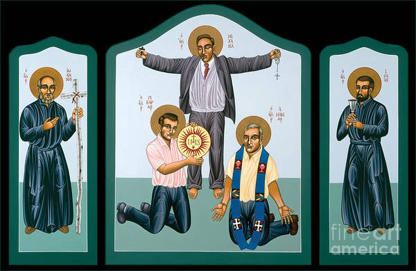 Painting - Triptych Of The Companions Of Jesus  by William Hart McNichols