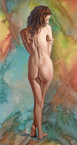 Background Painting - Trisha - Back View by Paul Krapf