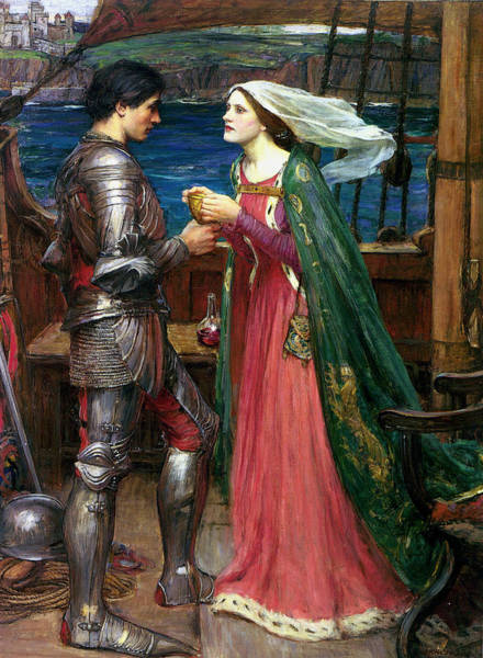 Pre-raphaelite Painting - Tristan And Isolde With The Potion by John William Waterhouse
