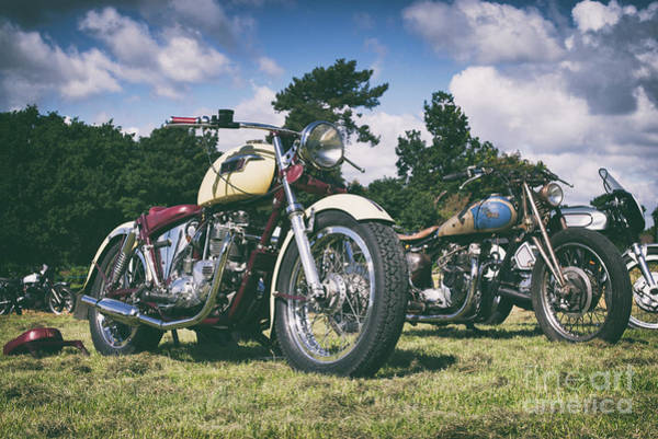 Photograph - Triumph And Bsa At The Mile by Tim Gainey