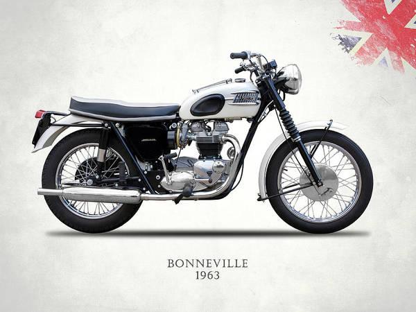 Triumph Photograph - Triumph Bonneville 63 by Mark Rogan