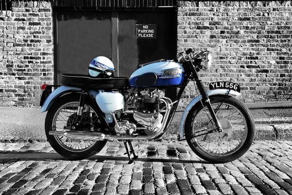 Triumph Photograph - Triumph Bonneville T120 by Mark Rogan