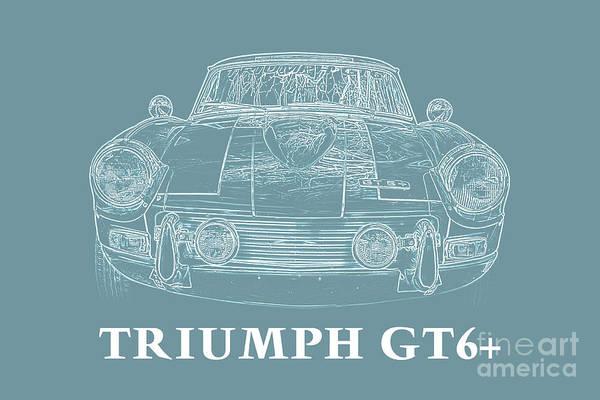 Sportscar Photograph - Triumph Gt6 Plus by Edward Fielding