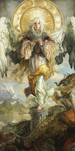 Dragon Fly Painting - Triumph by Heather Theurer