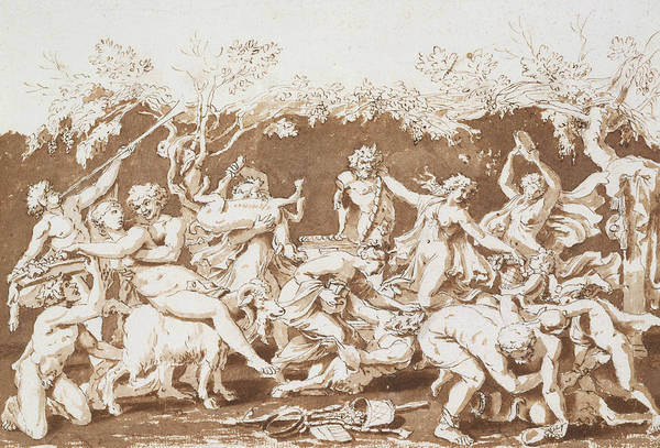 Drawing - Triumph Of Pan by Nicolas Poussin