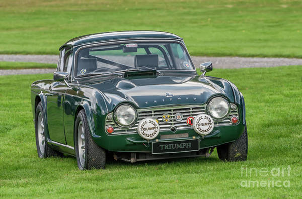 Green Car Photograph - Triumph Sports Car by Adrian Evans