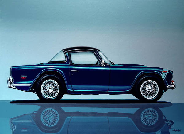 Vehicles Wall Art - Painting - Triumph Tr5 1968 Painting by Paul Meijering