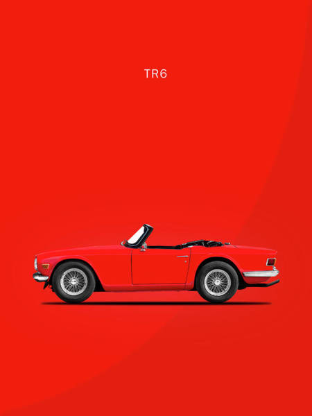 Wall Art - Photograph - Triumph Tr6 In Red by Mark Rogan