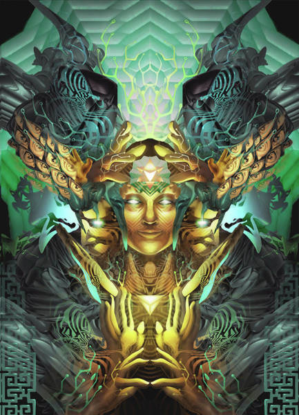 Tribal Digital Art - Triumvirate by George Atherton