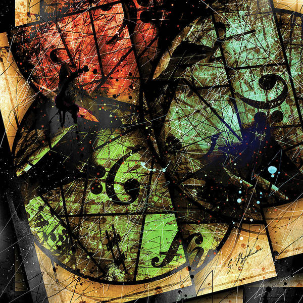 Wall Art - Digital Art - Trois Cercles by Gary Bodnar