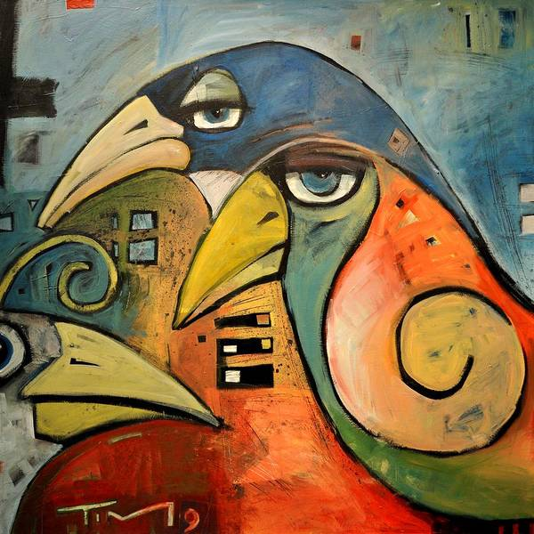 Wall Art - Painting - Trois Oiseaux by Tim Nyberg