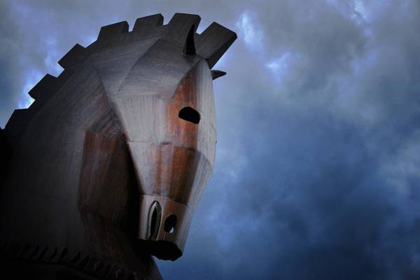 Eastern Anatolia Photograph - Trojan Horse At Ruins Of Ancient City Of Troy In Northwest Anatolia, Turkey by David Lyons