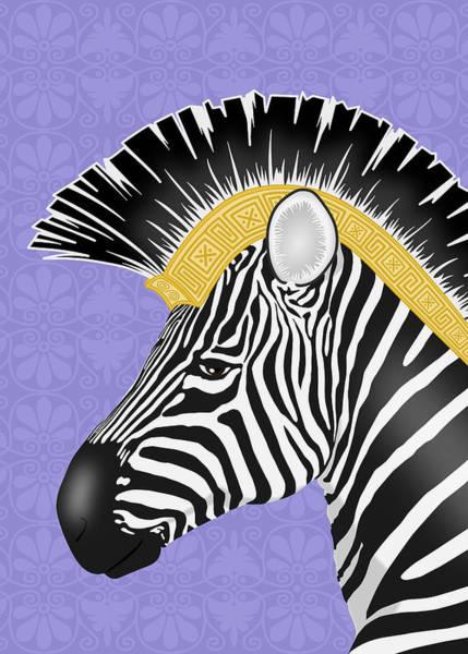 Digital Art - Trojan Zebra by Debi Dalio