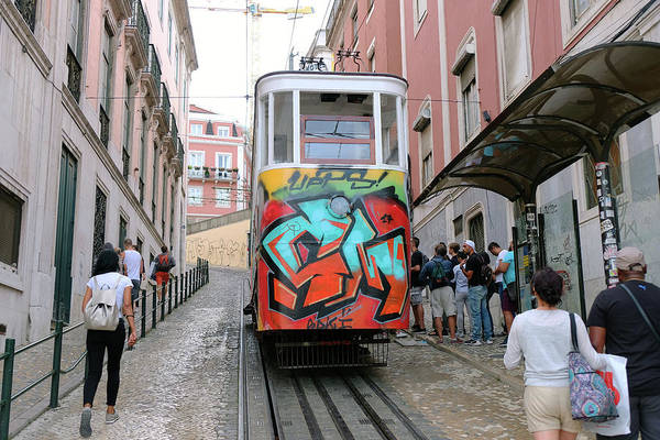 Wall Art - Photograph - Trolley In Lisbon - Portugal by Madeline Ellis