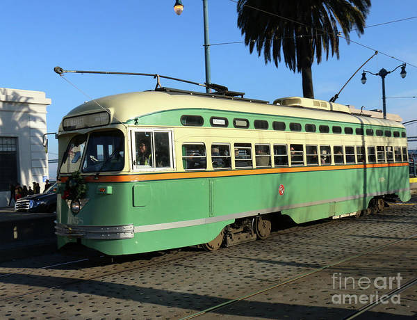 Photograph - Trolley Number 1058 by Steven Spak