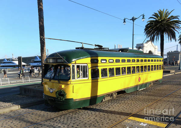 Photograph - Trolley Number 1071 by Steven Spak