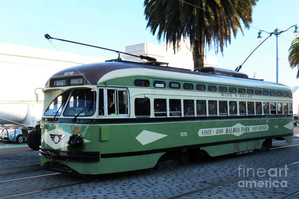 Photograph - Trolley Number 1078 by Steven Spak