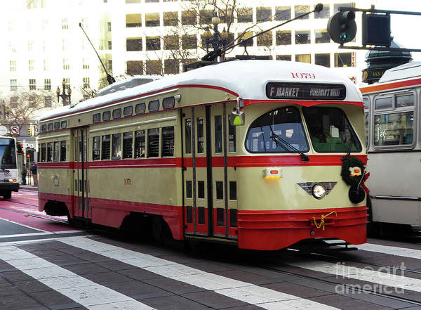 Photograph - Trolley Number 1079 by Steven Spak