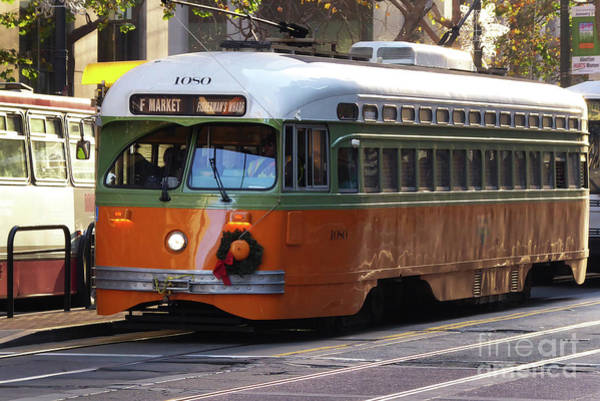 Photograph - Trolley Number 1080 by Steven Spak