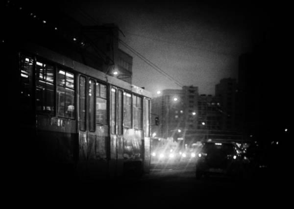 Photograph - Trolleybus Pinhole Camera Abstract Print by John Williams
