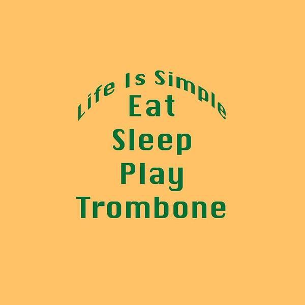 Photograph - Trombone Eat Sleep Play Trombone 5517.02 by M K Miller