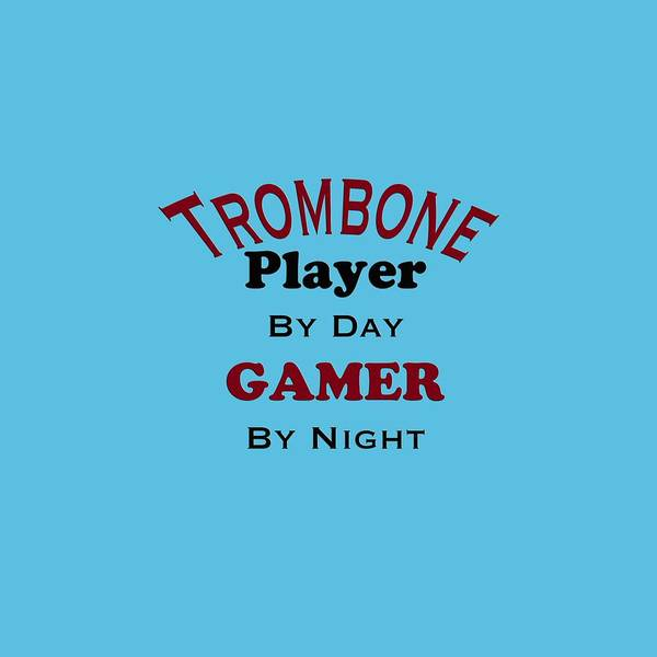 Photograph - Trombone Player By Day Gamer By Night 5626.02 by M K Miller