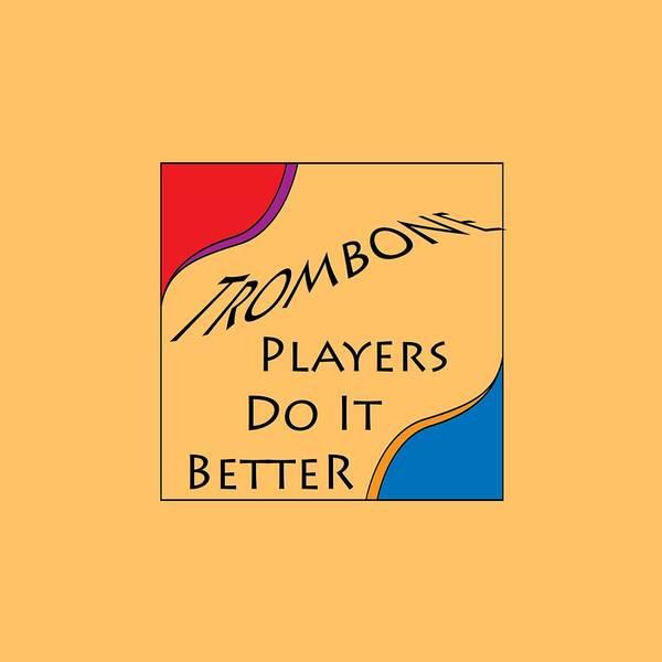 Photograph - Trombone Players Do It Better 5650.02 by M K Miller