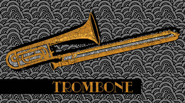 Painting - Trombone Tunes by Cecely Bloom