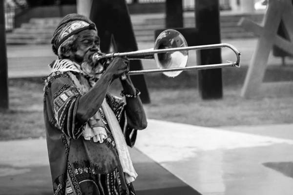 Photograph - Trombonist by Gregory Daley  MPSA