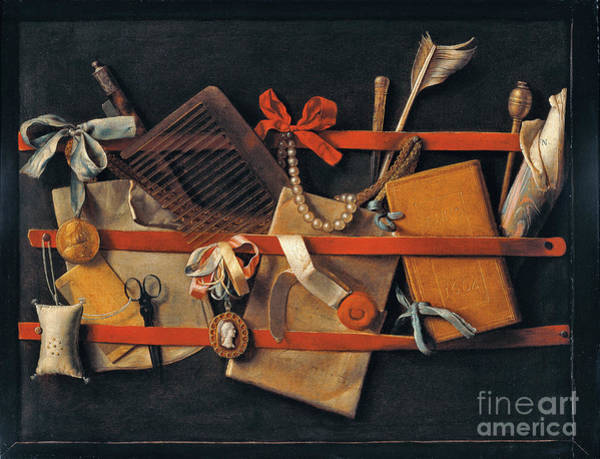 Painting - Tromp - L'oeil Still-life by Celestial Images