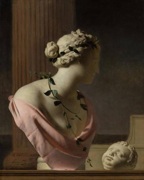 Best Selling Painting - Trompe L'oeil With A Bust Of Venus by Caesar van Everdingen