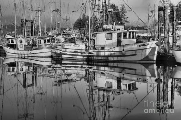 Port Of Vancouver Wall Art - Photograph - Tromso In Black And White by Adam Jewell