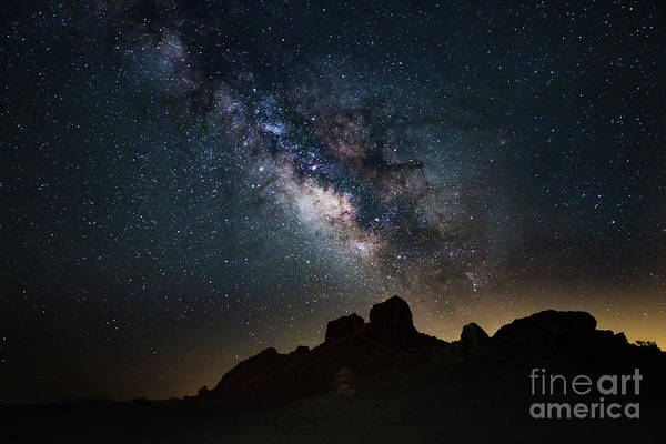 Photograph - Trona Pinnacles Galactic Core by Mark Jackson