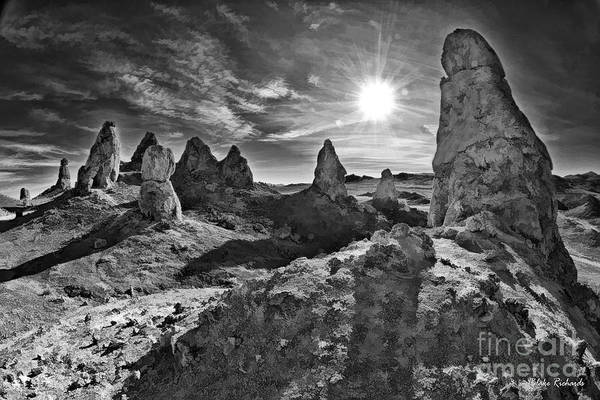 Photograph - Trona Pinnacles Sunset by Blake Richards