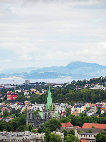 Photograph - Trondheim, Norway Cityscape by Whitney Leigh Carlson