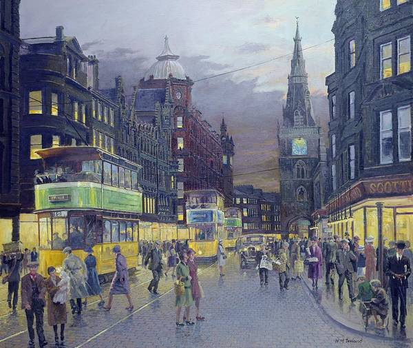 Urban Life Painting - Trongate Glasgow by William Ireland