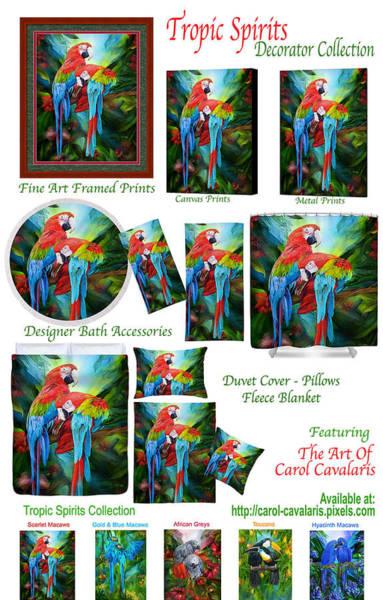 Mixed Media - Tropic Spirits Decorator Collection by Carol Cavalaris