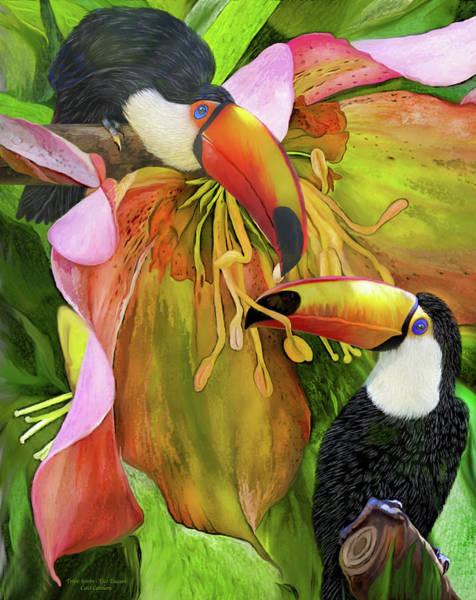 Mixed Media - Tropic Spirits - Toco Toucans by Carol Cavalaris