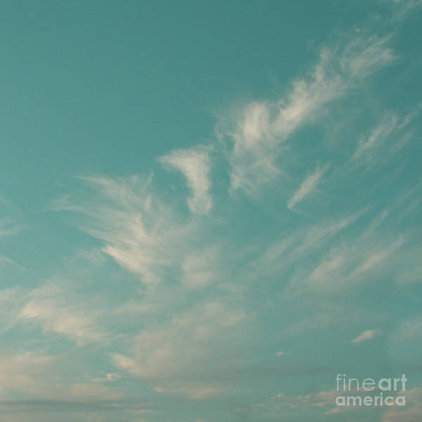 Photograph - Tropical Aquamarine Blue Sky And Clouds by Sharon Mau