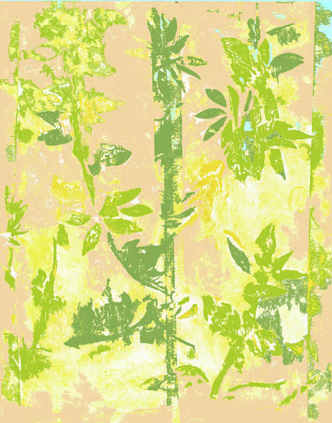Mixed Media - Tropical Bamboo One by Barbara Jacobs