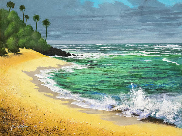 Wall Art - Painting - Tropical Beach by Frank Wilson