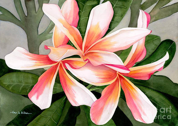 Aloha Painting - Tropical Beauty - Plumeria Watercolor by Hao Aiken