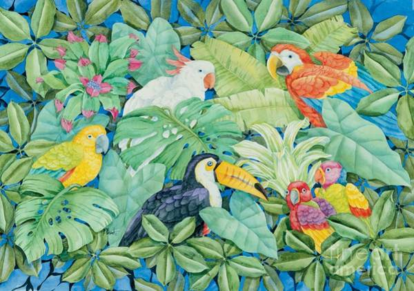 Rain Forest Painting - Tropical Birds by Paul Brent