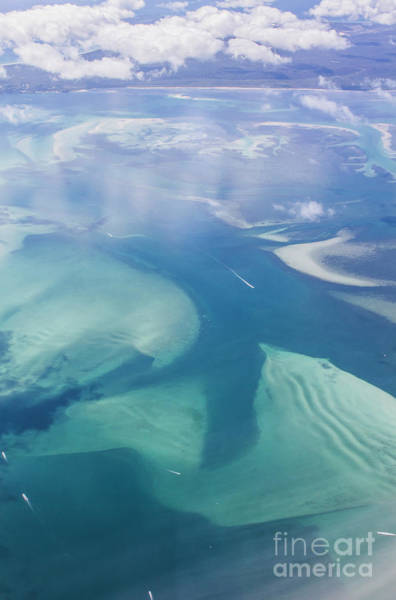Qld Photograph - Tropical Blue Ocean Aerial Landscape by Jorgo Photography - Wall Art Gallery