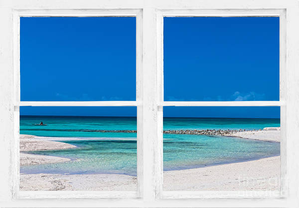 Photograph - Tropical Blue Ocean Window View by James BO Insogna
