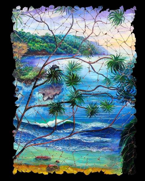 Tropical Cove  Fresco Triptych 2 Art Print